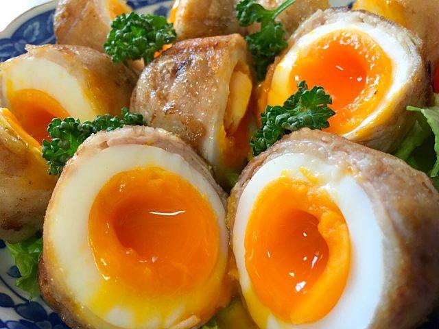 簡単レシピの作り方♪半熟卵の天ぷらが超美味しい