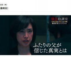 緊急取調室2(キントリ)2017最終回第9話の見逃し動画をPandora無料視聴はダメ?